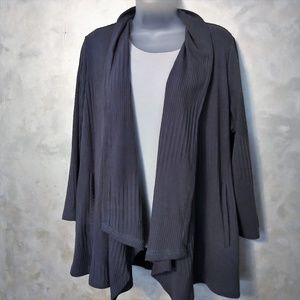 Joan Rivers Open Swing Cardigan EUC L